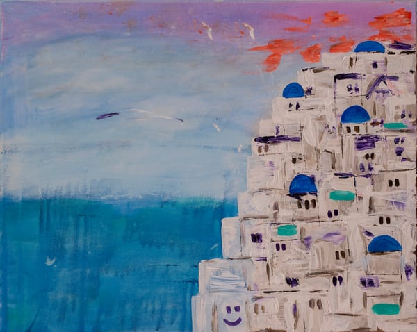 Oia By Day Art | Candy Country