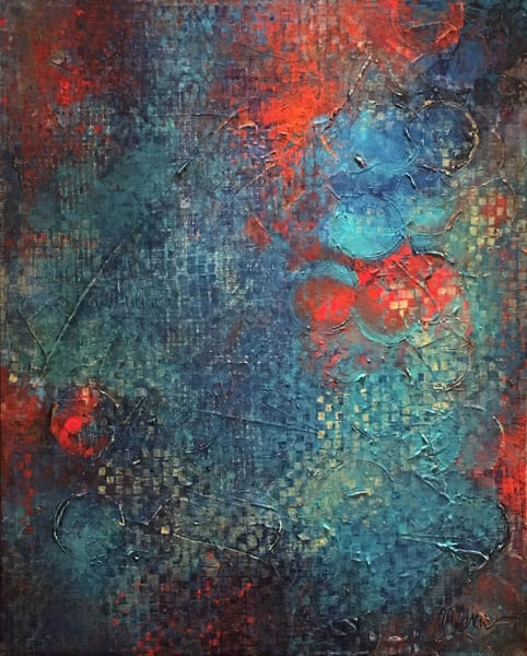 Jazz After Midnight - Original Abstract Painting | Cynthia Coldren Fine Art