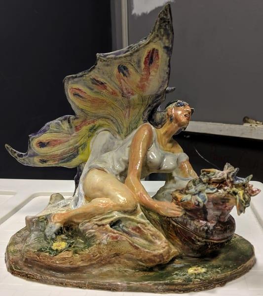 Larry Tinsley - original artwork - sculpture - fantasy - Madam Butterfly