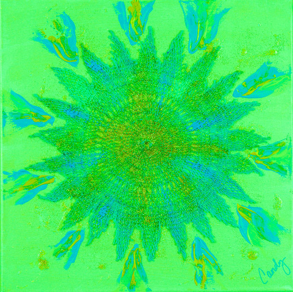 Lime Burst Art | Candy Country