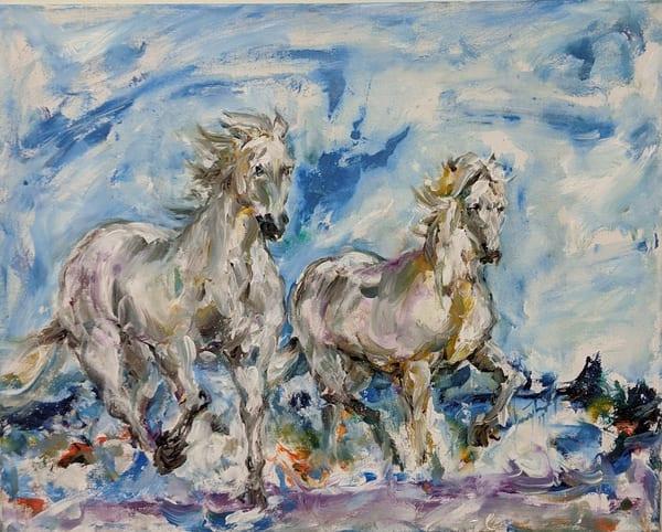 Larry Tinsley - original artwork - animals - horses - Sunday Run