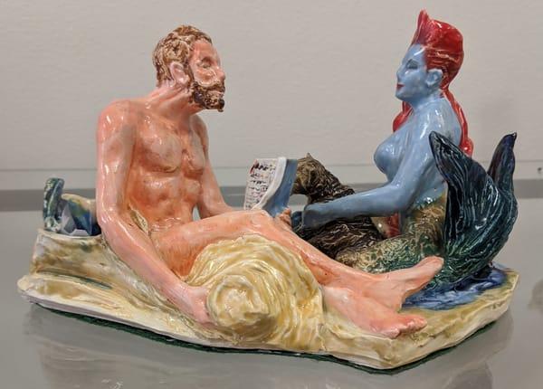 Larry Tinsley - original artwork - sculpture - fantasy - mermaid - The Dream