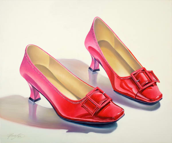 Mary's Red Shoes Art | Gema Lopez Fine Arts