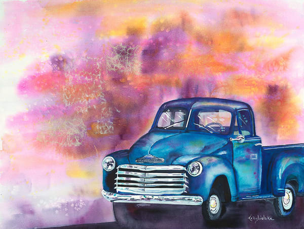 """Skagway Chevy"" fine art print by Kelly Wolske."