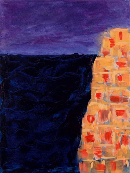 Oia By Sunset Art | Candy Country