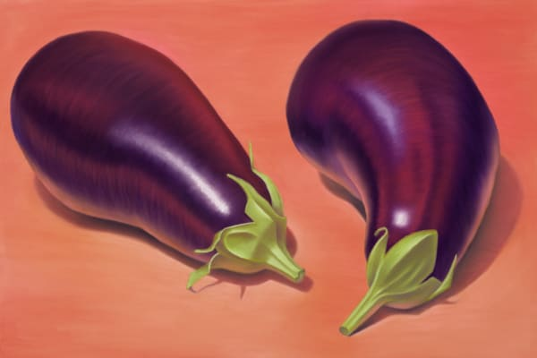 Eggplants Art | Gema Lopez Fine Arts