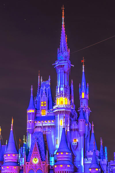 Projections On Cinderella's Castle Photography Art | William Drew Photography