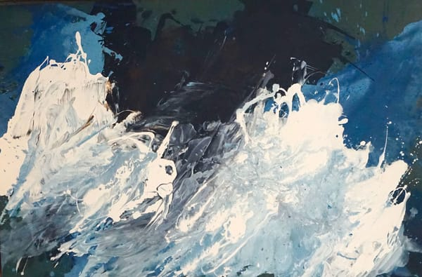 seascape in blue, canvas lli lila irving