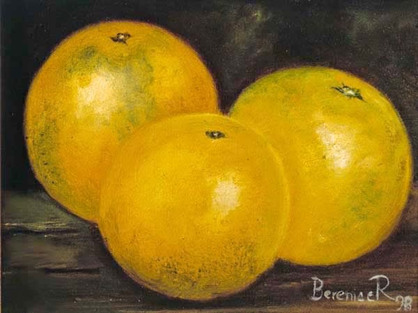 Naranjas,7x8in. Art   artecolombianobyberenice