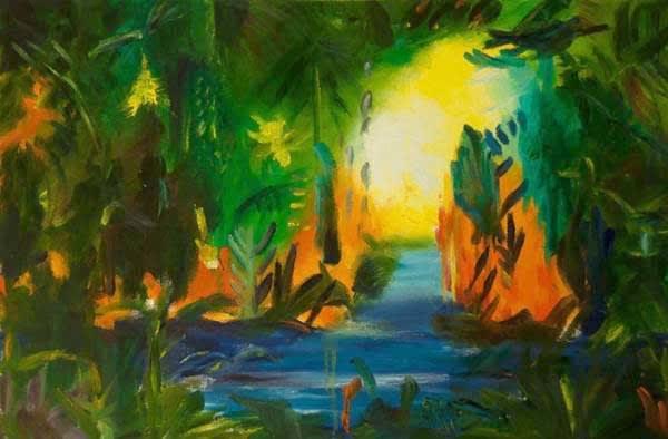 Paisaje Abstracto,23.5x35.5in. Art   artecolombianobyberenice