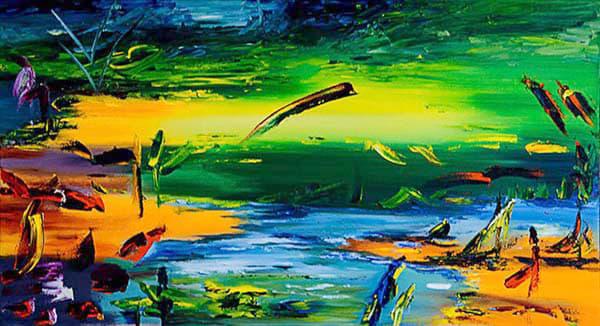 Semi Abstracto ,2004,22x39in. Art   artecolombianobyberenice