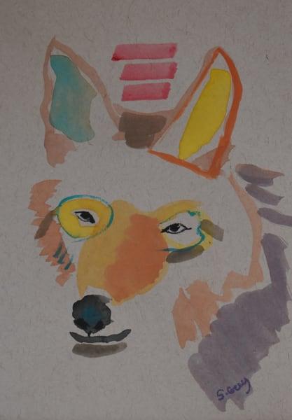 Coyote Head 2   Original Watercolor Art | Sharon Guy