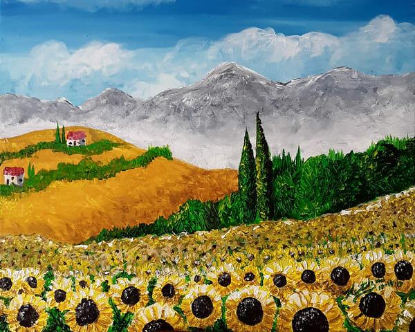 Sicilian Sunflowers Art | keithpiccolo