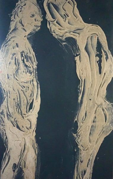 survivors figurative lila lewis irving canvas acrylic