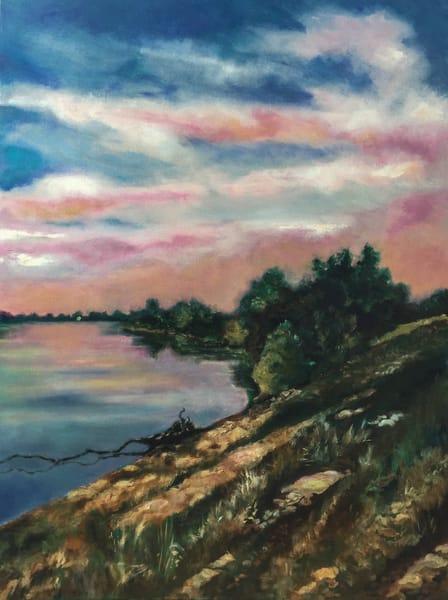 Sacramento River Levee, Dusk Art | Patrick Cosgrove Art and Photography