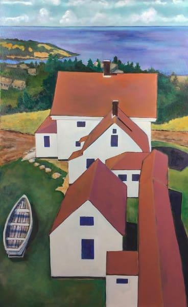 Monhegan Museum Rooftops Art | Patrick Cosgrove Art and Photography