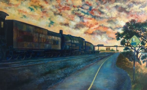 Old Sacramento Train At Sunset Art | Patrick Cosgrove Art and Photography