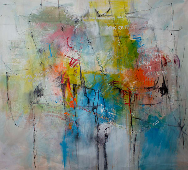 Give Me Your Words : : Fly Without A Net Art | Stephanie Visser Fine Art