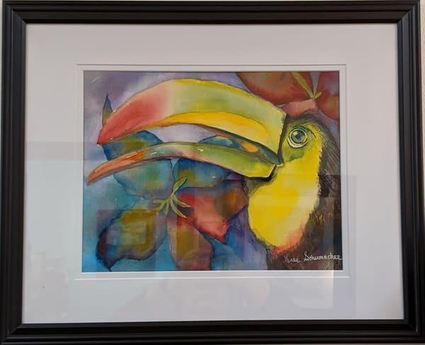 Lisa Schumacher - original artwork - watercolor - animals - birds - toucan - Shangi-La