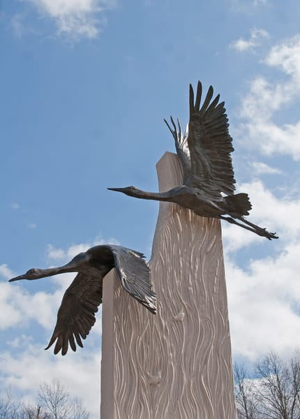 """The Winds Of Change""   Sandhill Cranes In Flight Art 