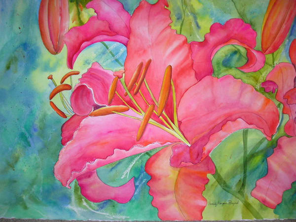 Orange Lily, From an Orignal Watercolor Painting