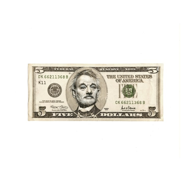 5 Dollar Bill Murray  Art | GINOZKO