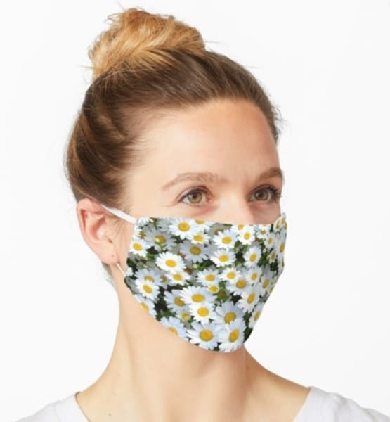Field Of Daisies Mask | Marci Brockmann Author & Artist