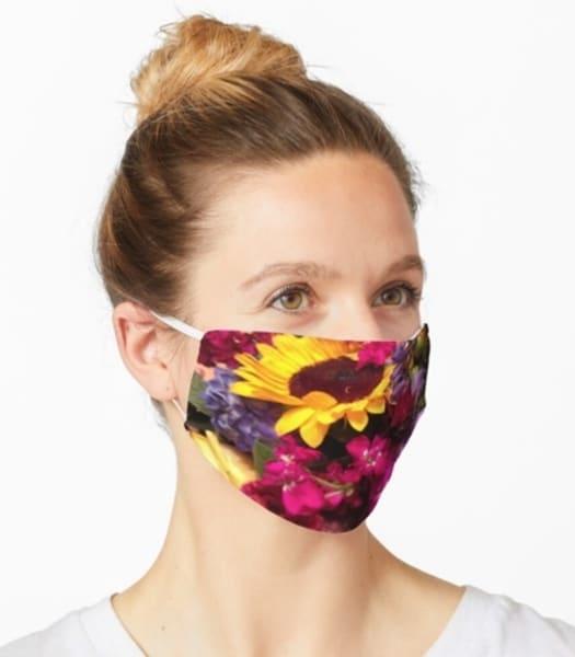 Floral Bouquet Mask | Marci Brockmann Author & Artist