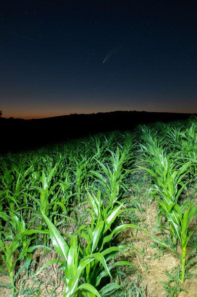 Comet over a Pennsylvania Farm