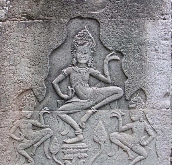 Dancing  Apsara on Lotus Flower = Bayon