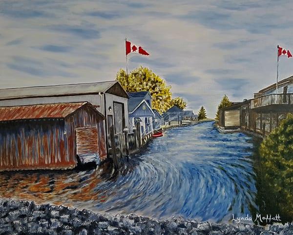 Mitchell's Bay Canal #1 Art | Lynda Moffatt Fine Arts