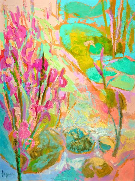 Beautiful Waterlilies Painting Fine Art Print by Dorothy Fagan