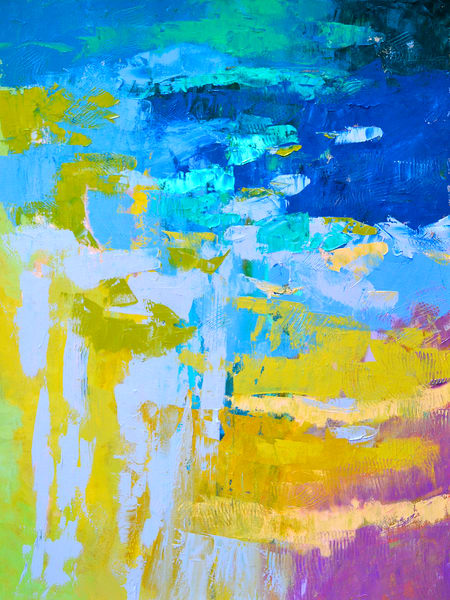 Large Blue Abstract Painting, Canvas Art by Dorothy Fagan