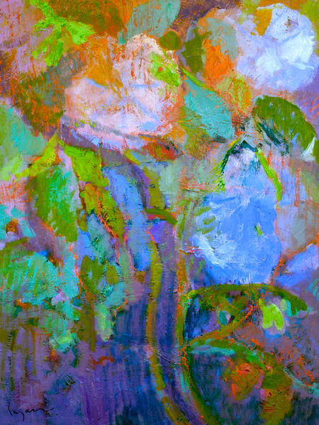 Oversize Moonflower Painting by Dorothy Fagan