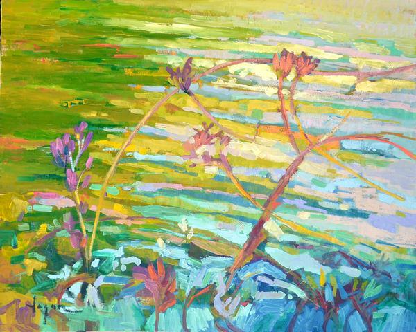 Abstract Water Painting, Art Print by Dorothy Fagan