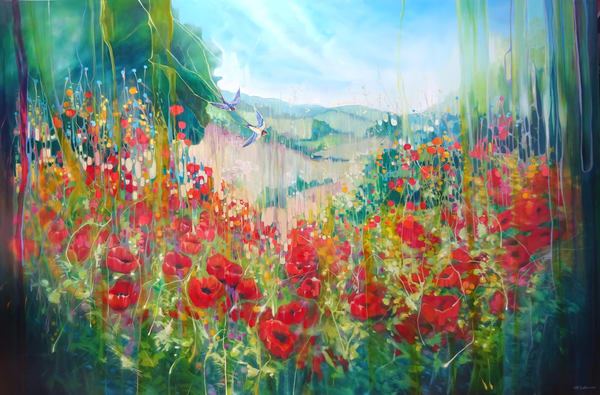 very large Sussex landscape painting