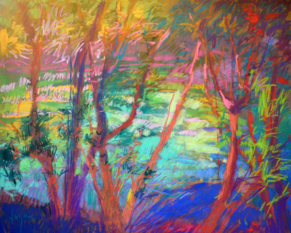 River Tapestry Art | Dorothy Fagan Joy's Garden