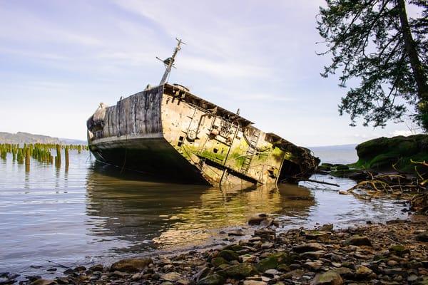 Shipwreck of the USS Plainview, Columbia River, Washington, 2014