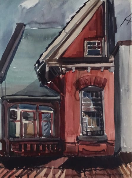 house on augusta watercolor lila lewis irving
