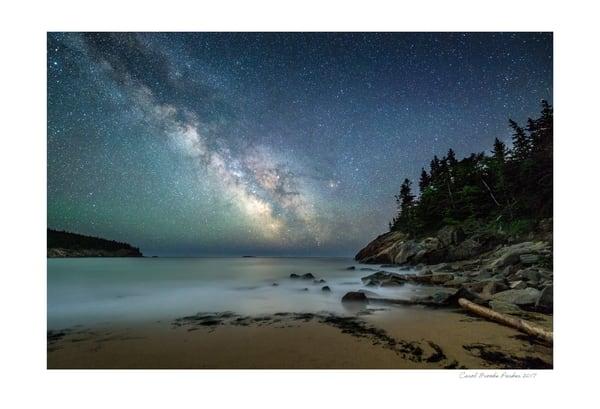 Milky Way Over Sand Beach 1   Signed 2017 Photography Art | Carol Brooks Parker Fine Art Photography