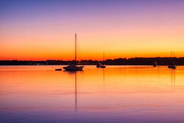 Mooring Field Sunset Photography Art | Willard R Smith Photography