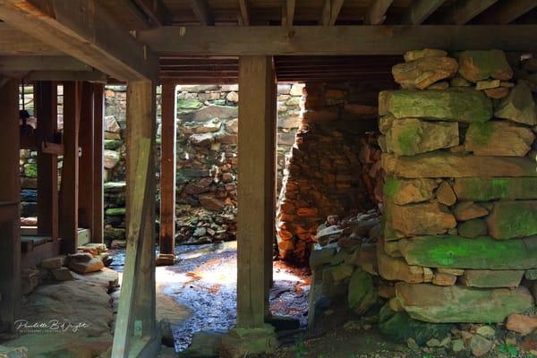 Light Play Beneath Yates Mill - Outside of Raleigh, North Carolina