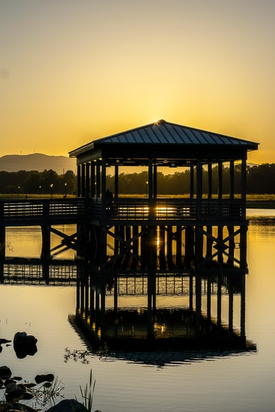 Golden Sunset Over The Water Photography Art | draphotography