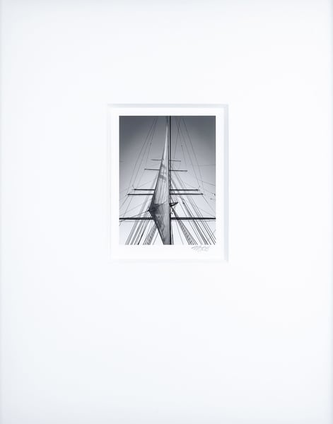 Staysail   Artist's Maritime Miniature Print   Museum Mat Photography Art | Mark Roger Bailey | Fine Art Photography