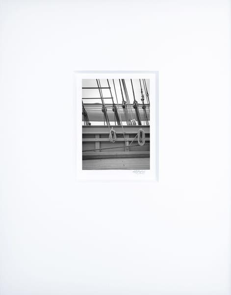 Starboard Rail   Artist's Maritime Miniature Print   Museum Mat Photography Art | Mark Roger Bailey | Fine Art Photography