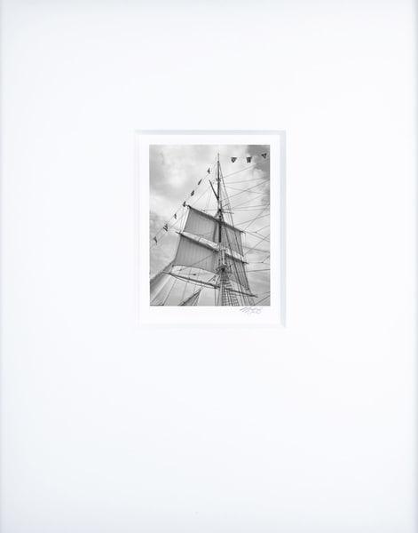 Foremast Lower Topsails   Artist's Maritime Miniature Print   Museum Mat Photography Art | Mark Roger Bailey | Fine Art Photography