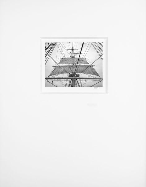 Main Lower Topsails   Artist's Maritime Miniature Print   Museum Mat Photography Art | Mark Roger Bailey | Fine Art Photography