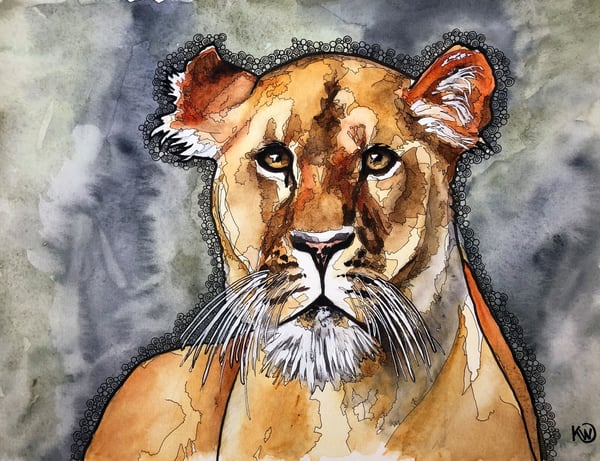 The Lioness Art | Water+Ink Studios