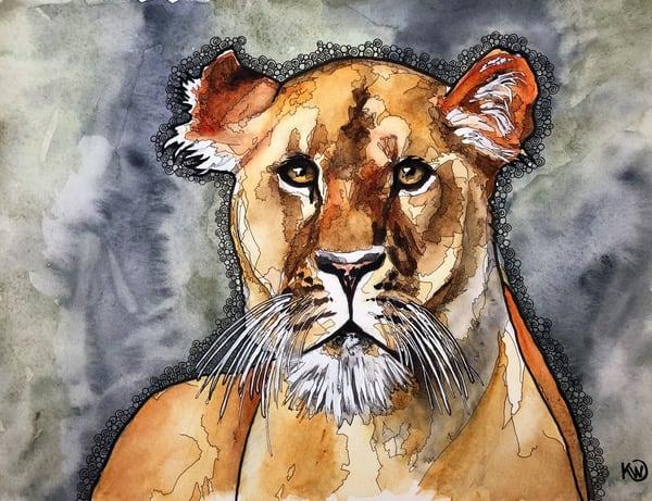 The Lioness Art | Water+Ink Studios