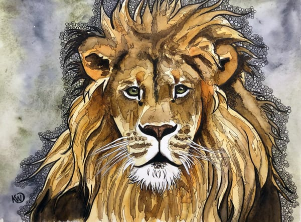 The Lion Art | Water+Ink Studios